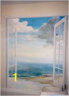 Faux Painting Mural Painting Mural Art Wall Murals Window Mural Beach