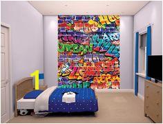 A stunning Walltastic Wallpaper Mural to add colour to a bedroom Available from Go Wallpaper UK