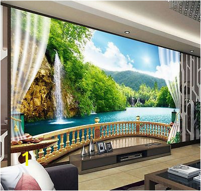 Waterfall Murals for Walls 3d Wallpaper Bedroom Mural Modern Embossed Tv Waterfall Background
