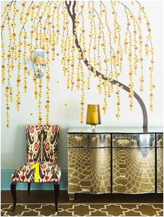 Lovely mural of a tree with yellow flowers Awesome focal point for a foyer wall Wall TreatmentsWeeping WillowWillow