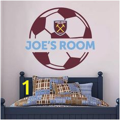 The ficial Home of Football Wall Stickers West Ham United Bedroom Football Gifts