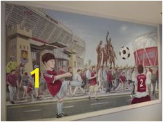 Mural in a West Ham fans bedroom 2014