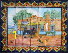 Tile Mural Rustica House Kitchen Tiles Mexican Tile Kitchen Mexican Tiles