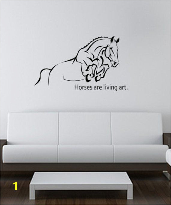 Horse wall decal quote wall sticker girls teen wall decal childs room decor western wall words d