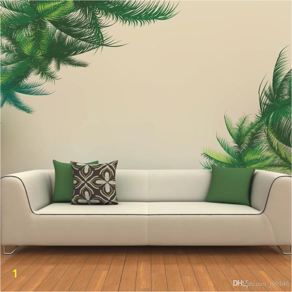 Western Wall Murals Decals Vinyl Waterproof Tree Leaf Wall Stickers Plant Wall Mural Decal