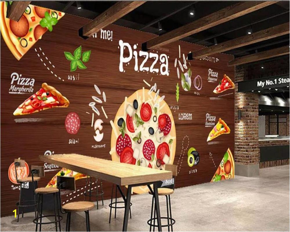 Western Wallpaper Murals Beibehang Custom Wallpaper 3d Pizza Background Wall Western