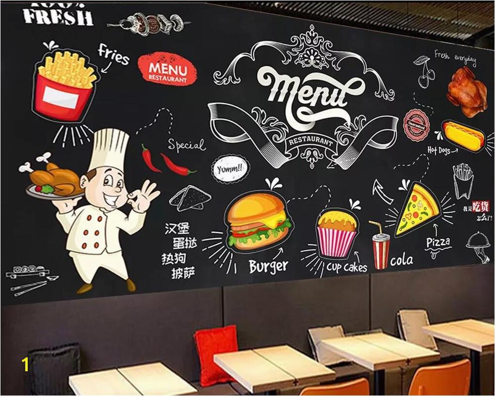 Western Wallpaper Murals Beibehang Custom Wallpaper Blackboard Mural Hand Painted Western