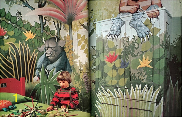 Wild Rumpus Mural · Wild Things Bedroom