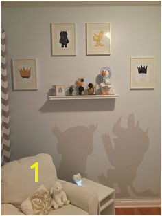 Our modern take on where the wild things are prints from Amazon chair