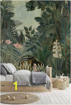 Jungle Wallpaper Mural Tropical Rainforest Jungle Green
