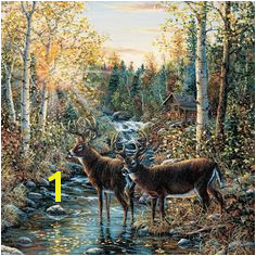 Brewster Round the World 259 Pre pasted Wall Mural Wild Deer 72