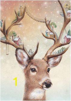Watercolour Deer Art Print Wall Art Animal Print Watercolor Deer Watercolour Deer Art