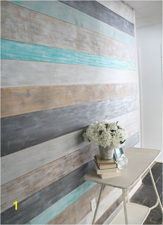 How to DIY a Wood Planked Accent Wall DIY Wood Wall