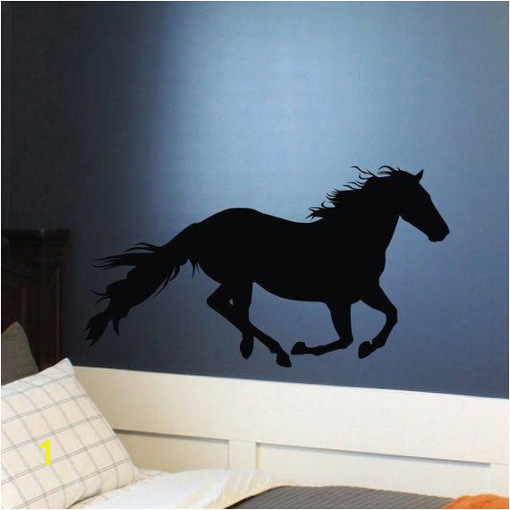 Running Horse Vinyl Wall Decal Sticker I love Horses Teen Girl Bedroom Decor Wild Horses Run Free teenagegirlbedroomdiy