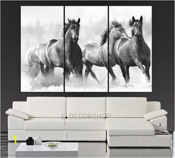 Wall Art Running Wild Horses Canvas Print 3 Panel Horse Canvas Art Print