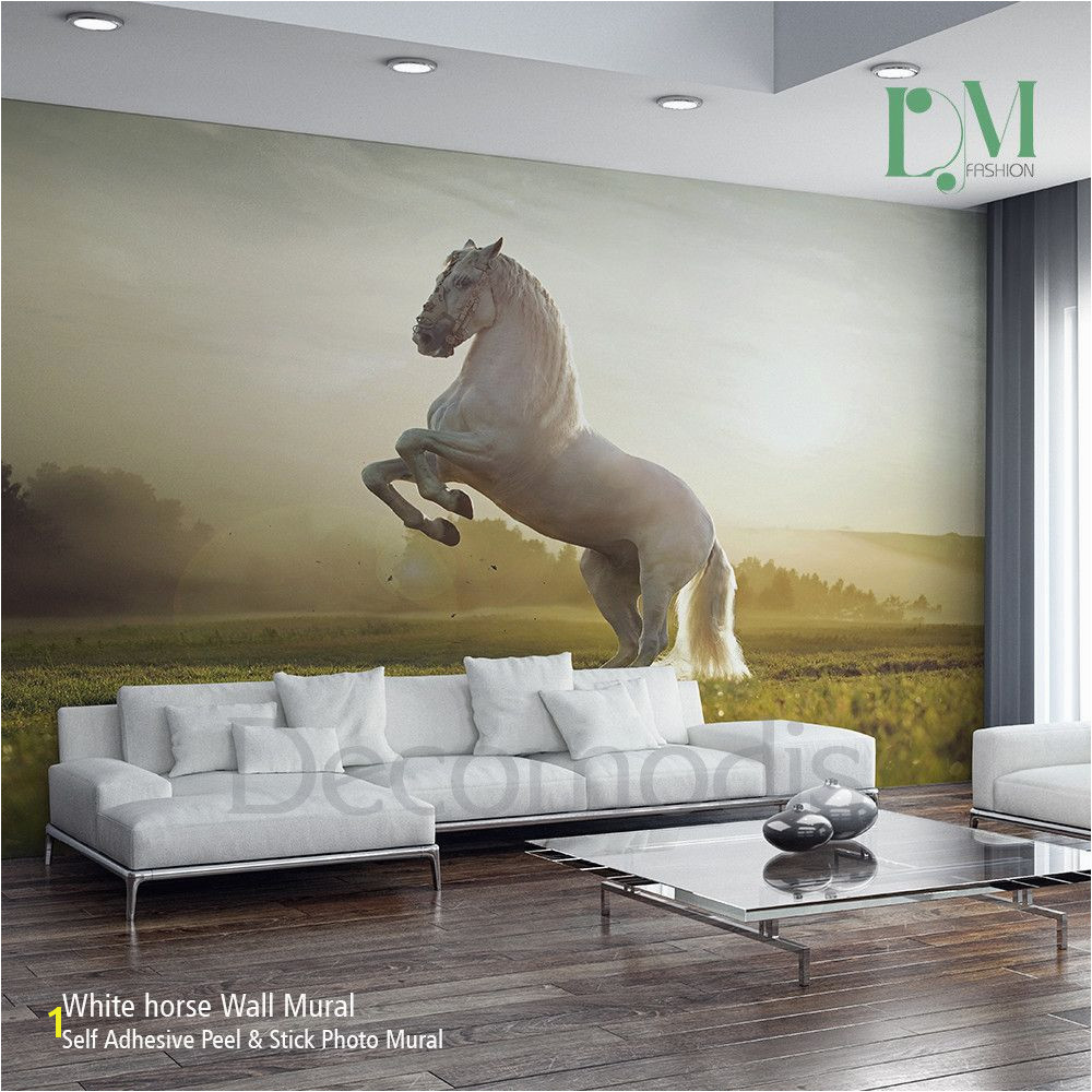 Wild Horses Wall Mural White Horse Wall Mural Wild Horse Self Adhesive Peel & Stick