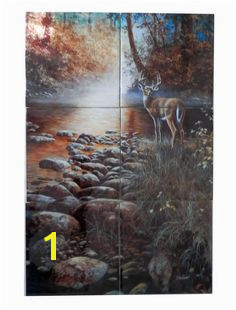 Beside Still Waters JH Tile Mural Digitally reproduced for tiles and depicts a