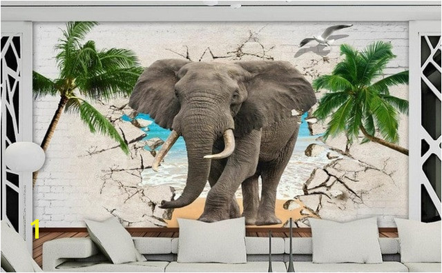 3D Elephant Wallpaper Wall Modern Children Wallpaper non woven Printing 3D Wallpaper Mural Living