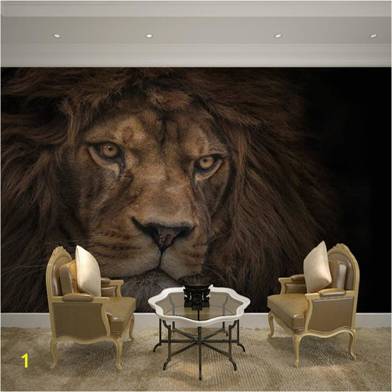Wallpaper Custom 3D Stereo HD Wildlife Lion Backdrop Wall Mural Hotel Living Room Classic Decor Wall Paper Papel De Parede in Wallpapers from Home