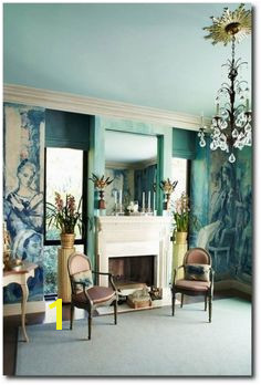 Hutton Wilkinson Salon Baroque Ceiling Paint Colors Fireplaces Fireplace Mantel Interior Design