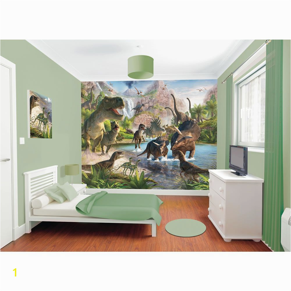 Walltastic Dinosaur Land Wallpaper Mural 8ft x 10ft Boys
