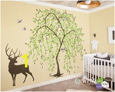 Baby nursery Willow Tree vinyl wall decal Tree sticker wall decor NT017B