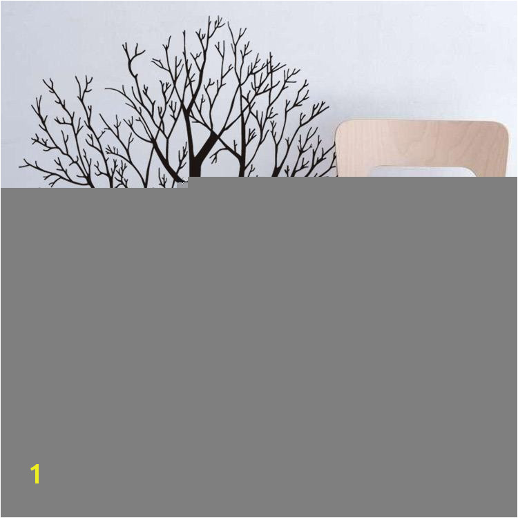 57 X 68CM Big Tree Wall Stickers Removable Living Room Bedroom Wall Decals Luxuriant Trees In Black Brown Wallpaper Poster Home Decor Mural Peelable Wall