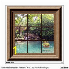 Fake Window Scene Peaceful Water Garden Zen Peace Wall Sticker