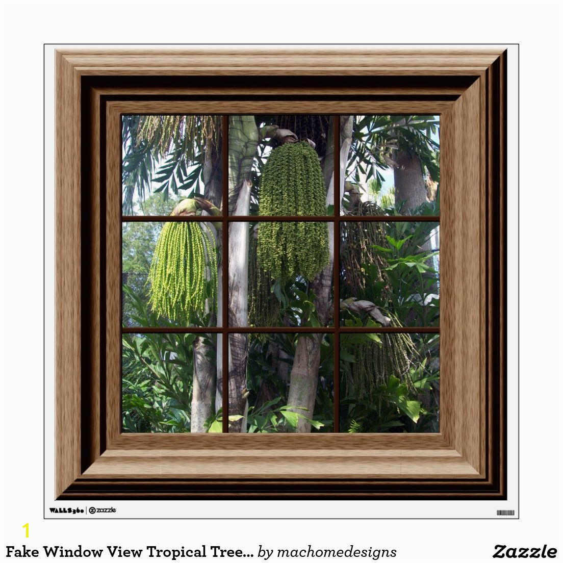 Fake Window Poster Winter Snow Scene Trees Icicles Fake Window Posters