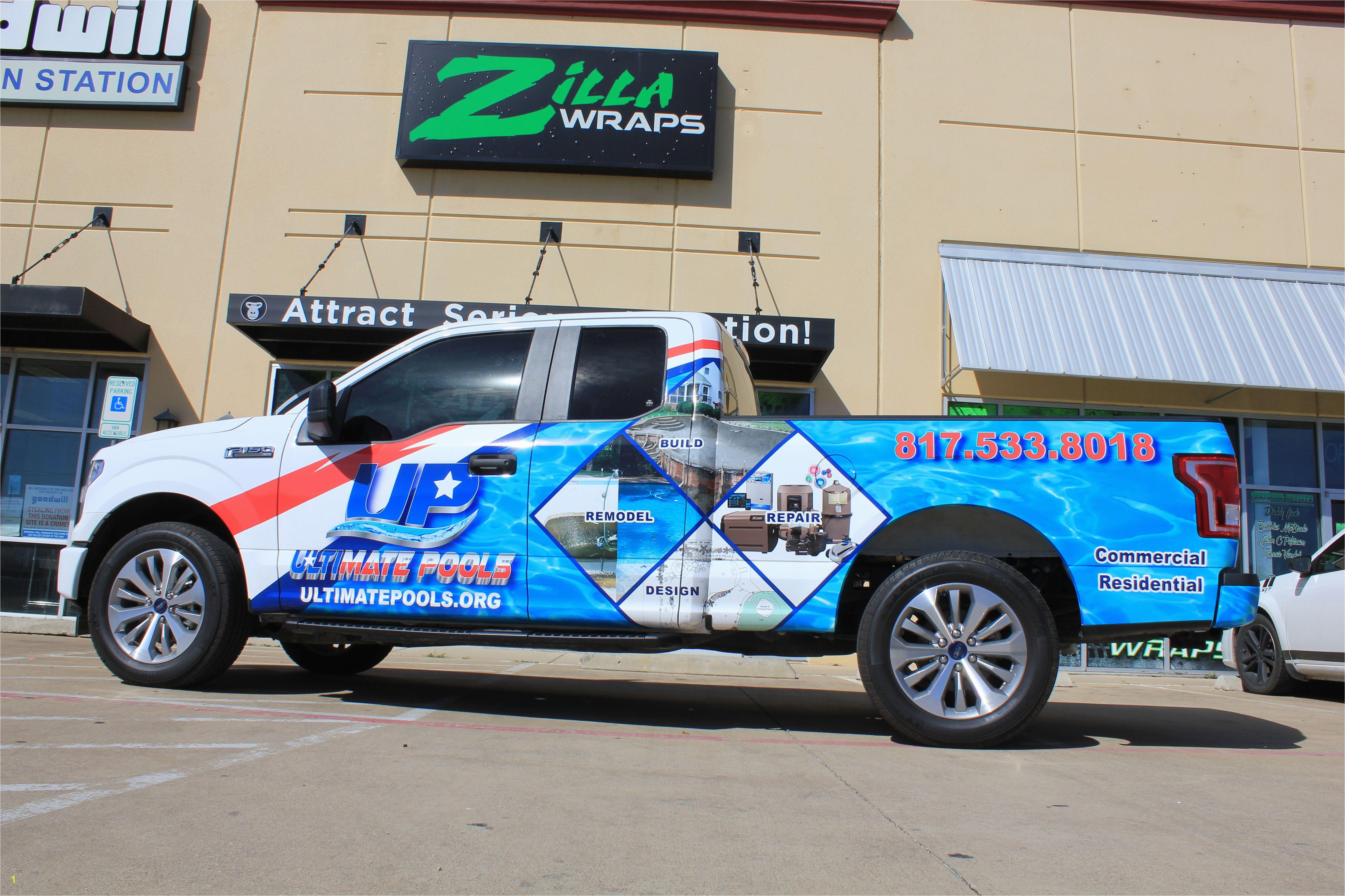 Window Murals for Cars Pool Truck Design Ideas American Flag