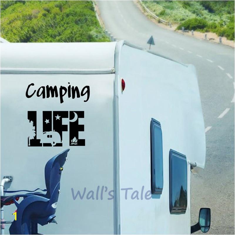Window Murals for Trucks Happy Camper Decal Car Window Truck Glass Motorcycle Suvs Bumper Car