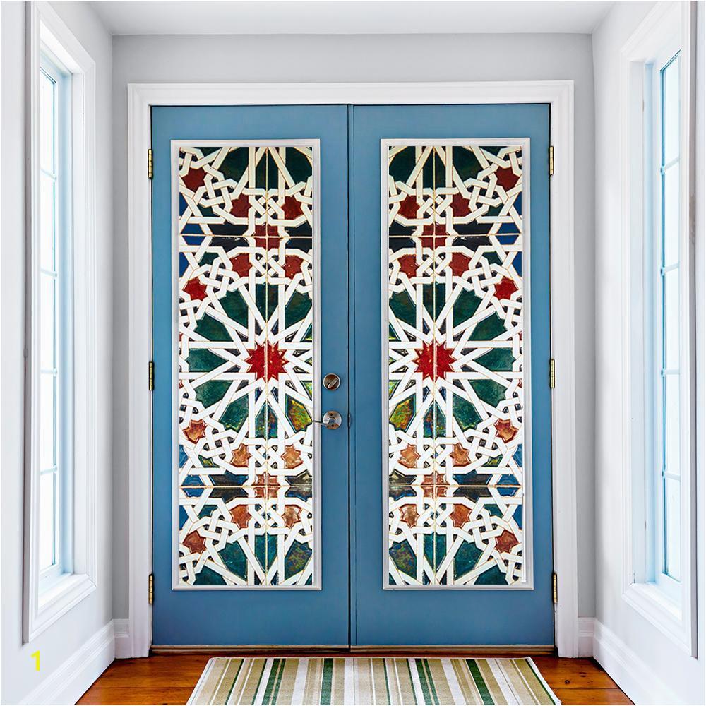 Window Murals for Trucks Kaleidoscope Color Vinyl Glass Wall Stickers 3d Diy Door Window