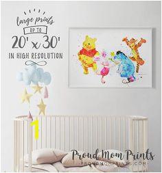 Winnie The Pooh Poster Pooh Wall Art Winnie The Pooh Art Print Pooh Nursery Decor Printable Pigl