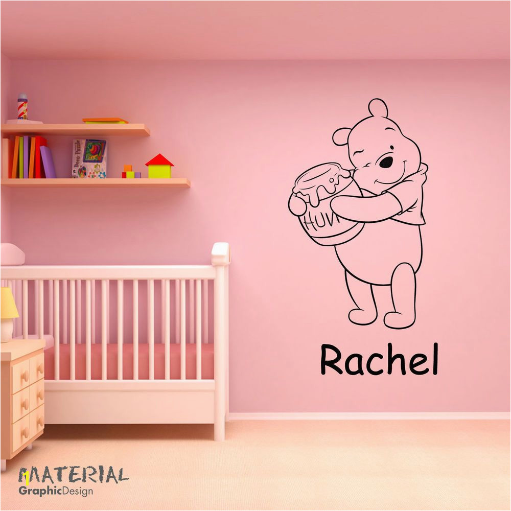 Winnie the Pooh Wall Murals Disney Winnie the Pooh Personalised Wall Art Sticker Decal Boys