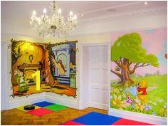 winnie the pooh murals in playroom Playroom Mural Wall Murals