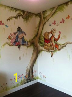 Winnie the Pooh mural Disney Wall Murals Mural Wall Toddler Rooms Girl Nursery