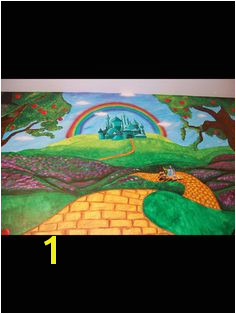 Wizard of oz themed mural by caras creations for a child s nursery Look at the