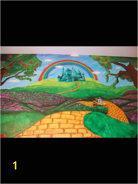 Look at the other examples of my children murals Contact me if interested I use acrylic paint on walls to create murals Wizard of oz