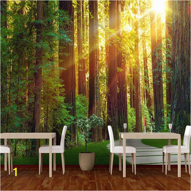 3D Custom Mural Wallpaper Wall Painting Sunny Forest graphy Background Wallpaper For Living Room Bedroom Wall Murals