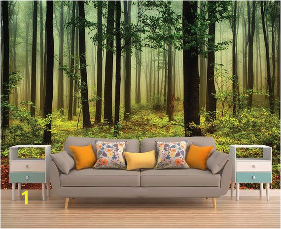 Forest Wall Mural Forest Wallpaper Forest Tree Wall Mural Tree Wallpaper Nature Wall Mural Nat
