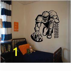 Custom Football Player Wall Decal Football Decal Football Kids Room Custom Kids Room Decal