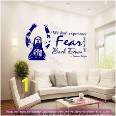 Roman Reigns Quotes Wall Stickers WWE wrestling figure Wall decal Sports Mural Reign Quotes Sports