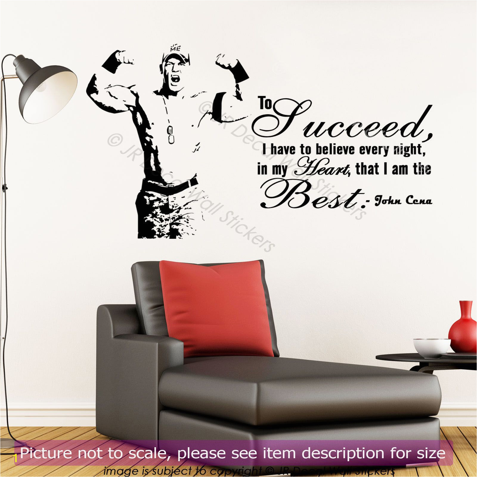 John Cena Vinyl Wall Stickers Wwe Inspirational Quote Wall Decals Gym Sports Art