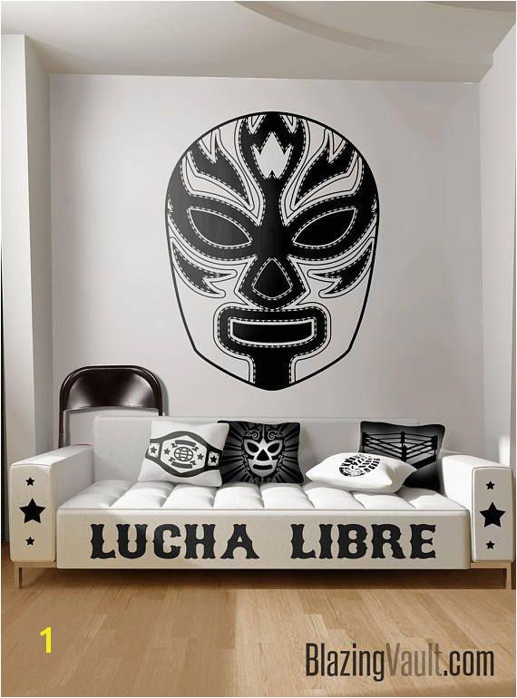 Luchador 2 Mask Wall Decal Mexican Wrestling Mascara Lucha