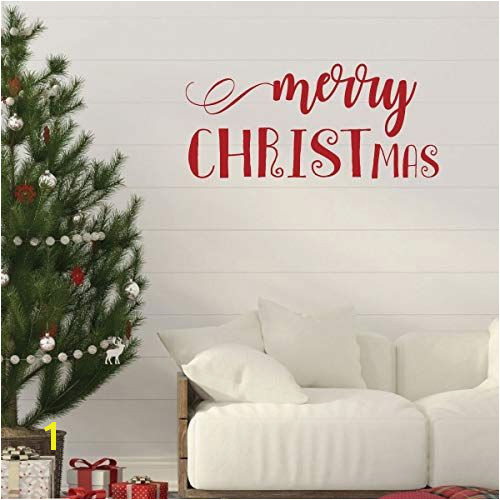 Christmas Wall Decal Merry CHRISTmas Holiday Vinyl Stickers for Living Room or Home Decoration