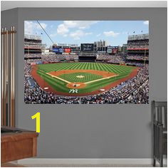 Behind Home Plate at Yankee Stadium Mural Fathead Wall Decal