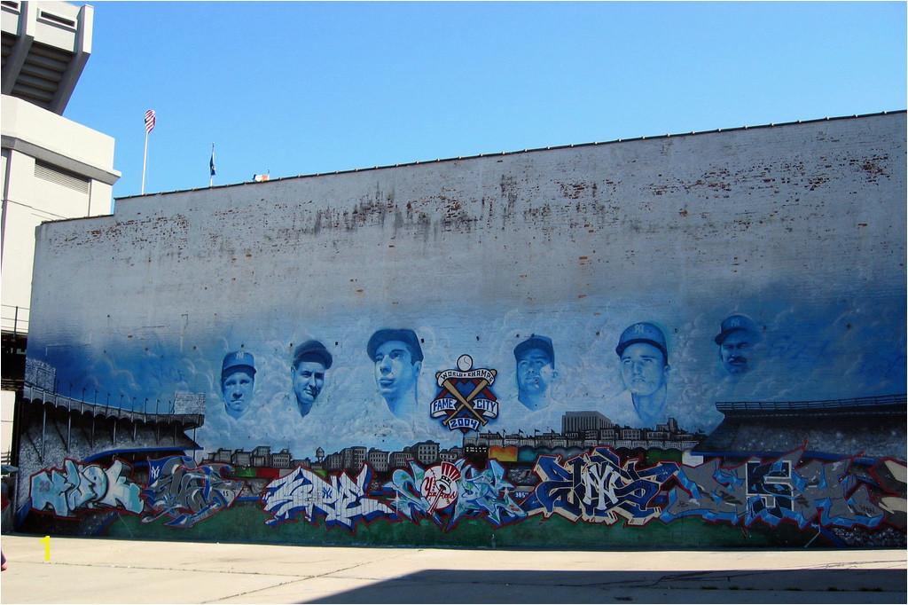 Bronx Yankee Stadium Parking Lot Mural