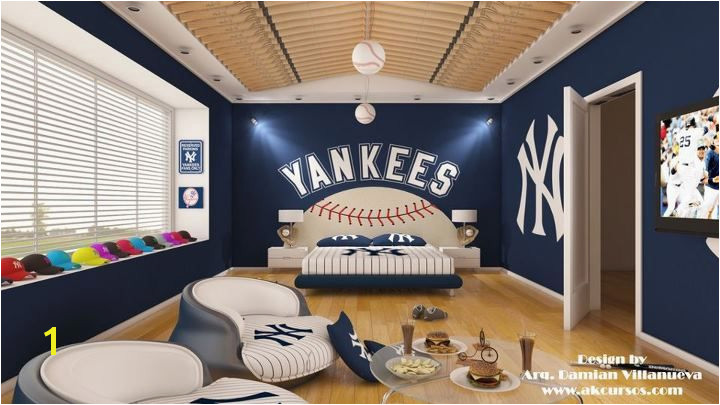 How awesome would it be to a room dedicated to the Yankees I envision a room like this was a huge flat screen for watching the Yanks win another World