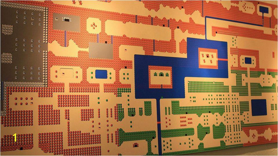HUGE over 4 Foot Long Wall Mural of ZELDA for the NES Map