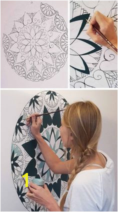 Zentangle Wall Mural 53 Best Wall Mandala Images